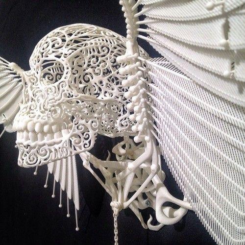 Joshua Harker's 3-D printed sculptures