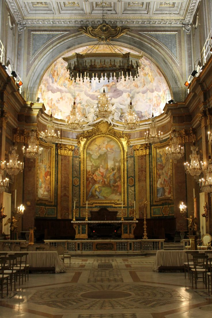Don't forget the famous chandeliers in Ss. Giovanni e Paolo. They were donated by Francis Cardinal Spellman when he was granted the basilica as his titular church. They originally came from the old 1893 Waldorf Astoria Hotel in New York.