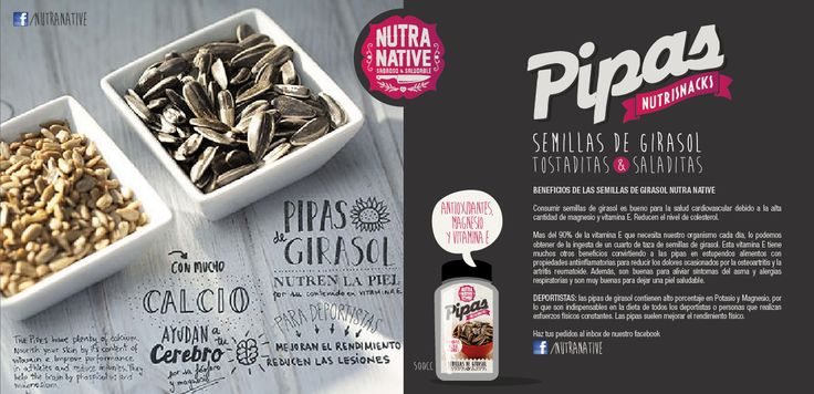 Saludablemente adictivas! #Semillas de #Girasol tostaditas y con un toque saladito serán tu #snack #nutritivo preferido! pruébalas.
