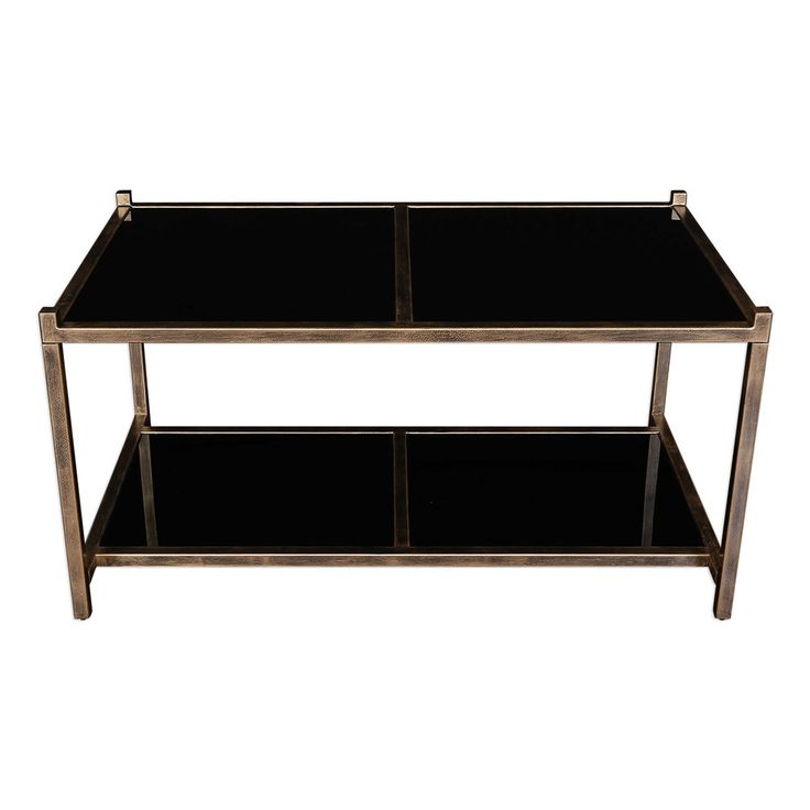 Karol Black Glass Coffee Table