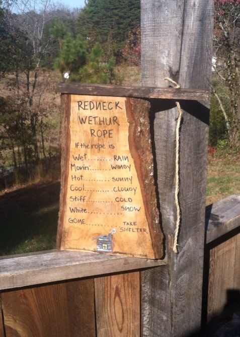Hey, I found this really awesome Etsy listing at http://www.etsy.com/listing/167452639/redneck-weather-rope-funny-home-decor