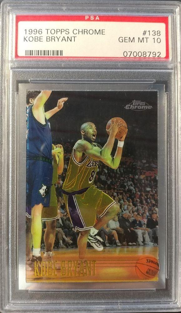 1996 Topps Chrome Kobe Bryant 138 Rookie Card Rc Psa 10 Gem