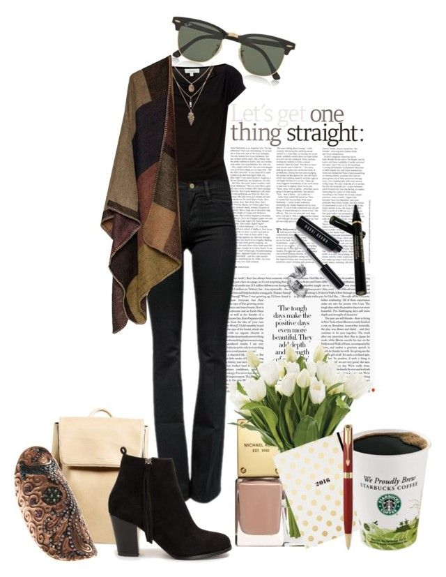 My Tuesday Time by sofia-ios on Polyvore featuring polyvore, fashion, style, Linea, Frame Denim, Nly Shoes, Matt & Nat, Ileana Makri, Ray-Ban, Chanel, Bobbi Brown Cosmetics, NDI, Parker, Kate Spade, women's clothing, women's fashion, women, female, woman, misses and juniors