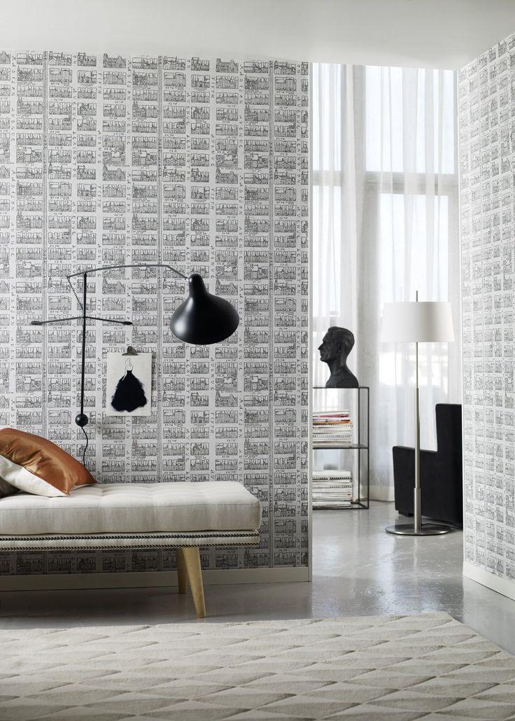 Pin By Hailey On Home Manhattan Wallpaper Modern