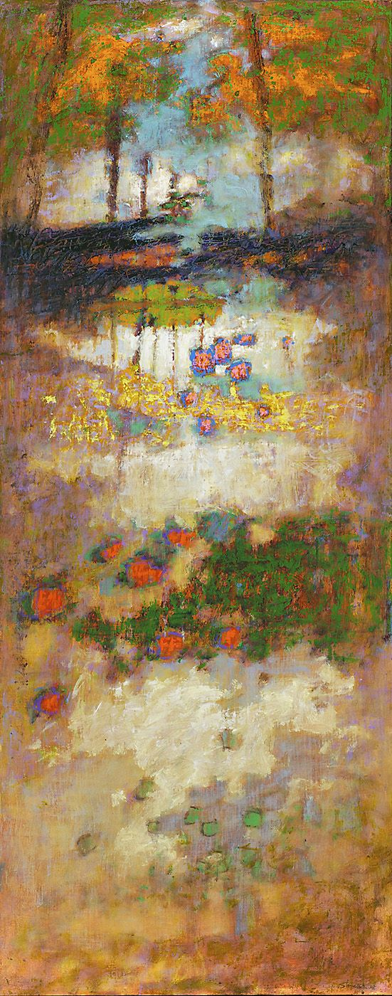 "Rick Stevens Art : How the Light Gets In | oil on canvas | 48 x 19"""