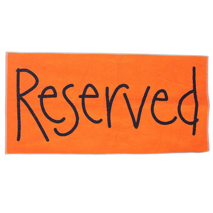 reserved beach towel £19.99
