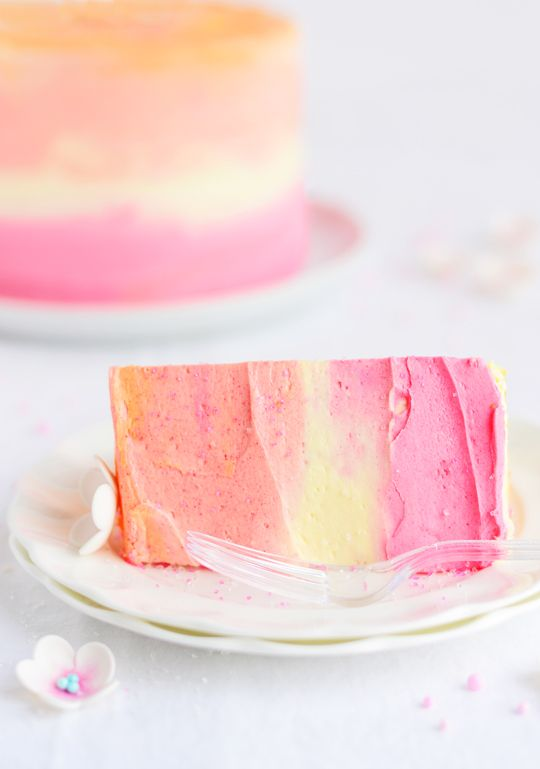 Colorful party cake