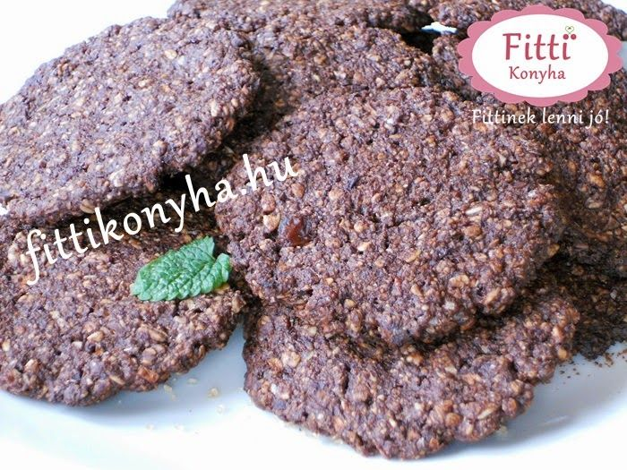 Fitti Konyha: Fitti csokis zabpelyhes keksz