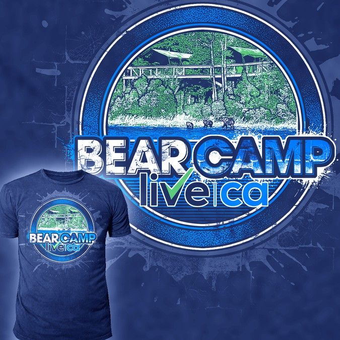 Create a T-shirt design for a corporate retreat at a Bear Camp in BC Canada by *****SANI*****