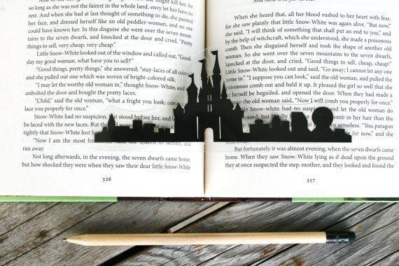 Disney Castle Handcut Silhouette Bookmark by GracefulDiligence, $7.99