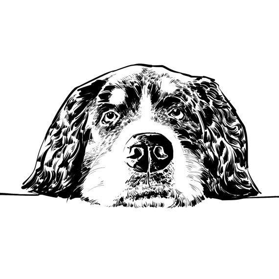 Benutzerdefinierte Hund Portrait in schwarz-weiß-Stil. Hund-Denkmal und Geschenk. Haustier-Denkmal.