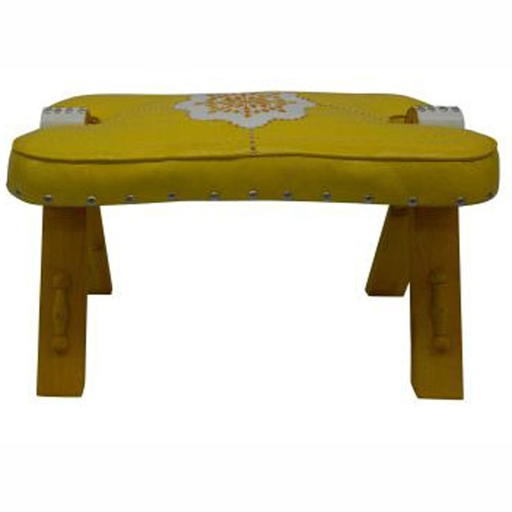 This beautiful handmade Moroccan ottoman adds elegant style to your home.
