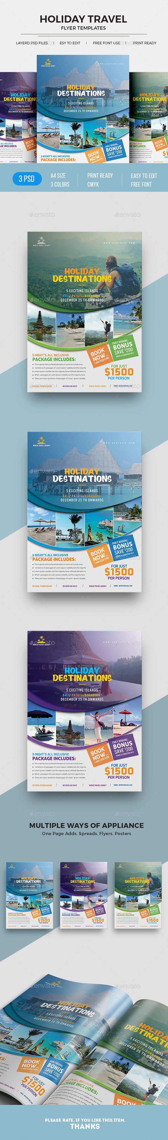 Travel Flyer - Commerce Flyers Download here: https://graphicriver.net/item/travel-flyer/19879557?ref=classicdesignp