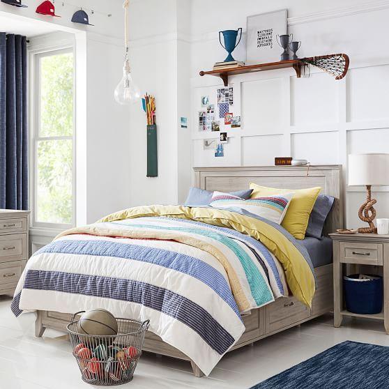 Hampton Storage Bed Twin Smoked Gray In 2020