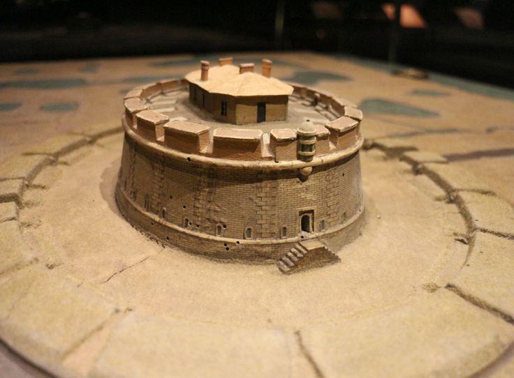 Plan-relief du Fort Paté, réalisé en 1703 #Aquitaine. Notice du plan-relief : http://www.museedesplansreliefs.culture.fr/collections/maquettes/recherche?r=pat%C3%A9         (c) Musée des Plans-reliefs / G.Froger