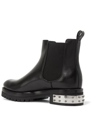 Alexander McQueen - Embellished Leather Chelsea Boots - Black