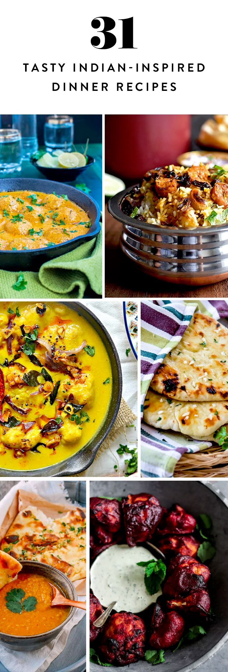 74 best indian vegetarian recipes images on pinterest dinners 31 indian inspired recipes to try for dinner tonight forumfinder Image collections