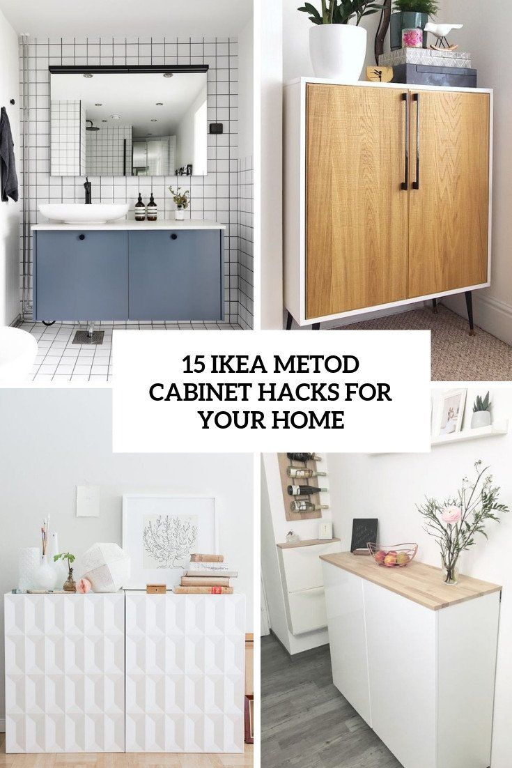 Using Ikea Kitchen Cabinet In Bathroom Lovely 15 Ikea Metod Cabinet Hacks For Your Home Shelterness In 2020 Kitchen Cabinets In Bathroom Ikea Bathroom Ikea