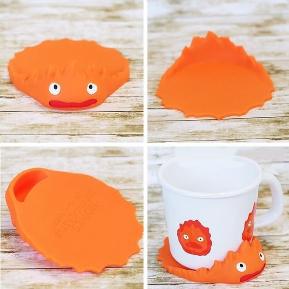 Howl's Moving Castle Calcifer Coaster