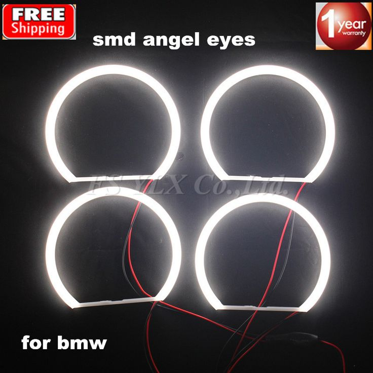 sale fsylx 2sets 4131mm led angel eyes lamp auto parts light smd led light kit for bmw e36 e38 e39 e46 with #eye #parts