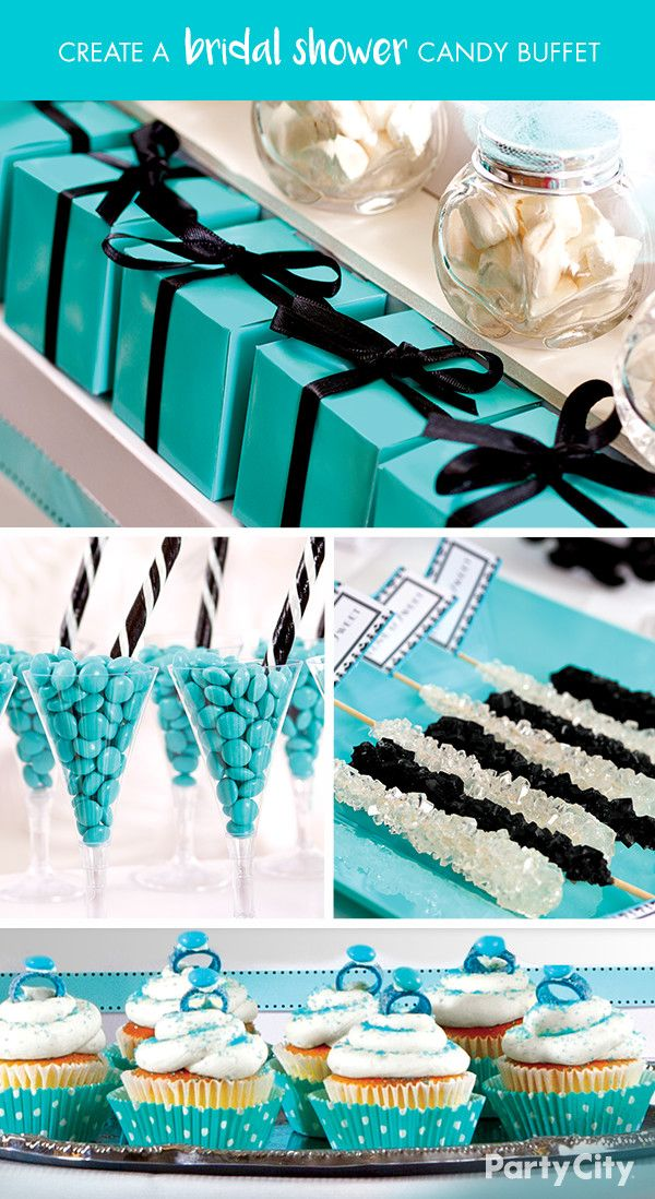 wedding shower candy buffet ideas%0A Give bridal shower guests something sweet to talk about with a romantic  Robin u    s Egg Blue candy buffet  First  select a tablecloth  backdrop and  other d  cor