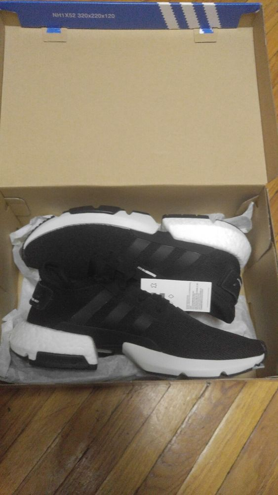 15103c7ff04 Adidas Originals Pod-S3.1 Boost Black White Athletic Shoes Men 8.5 New (