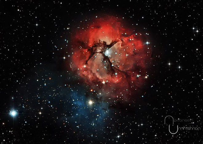 Trifid Nebula Glows in Stunning Photo By Amateur Astronomer