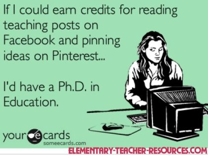 Earn credits for reading teaching posts?  Or at least extra credit points.  What do you think, Mrs. Solomon? :)