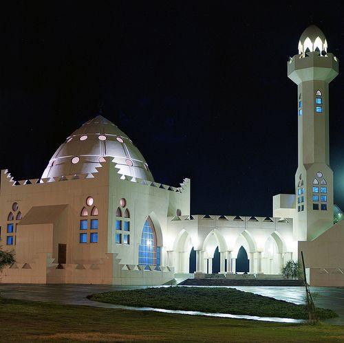 Mosque at night, Corniche, Al Khobar, Saudi Arabia | by Tony Withers photography