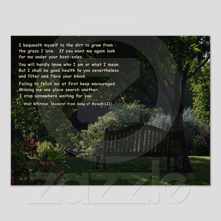Walt Whitman - Poem Print