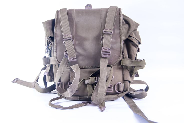 Vintage military backpack, small army backpack, vintage backpack, green backpack, men's backpack, postapocalyptic backpack, small backpack by VintageEuropeDesign on Etsy