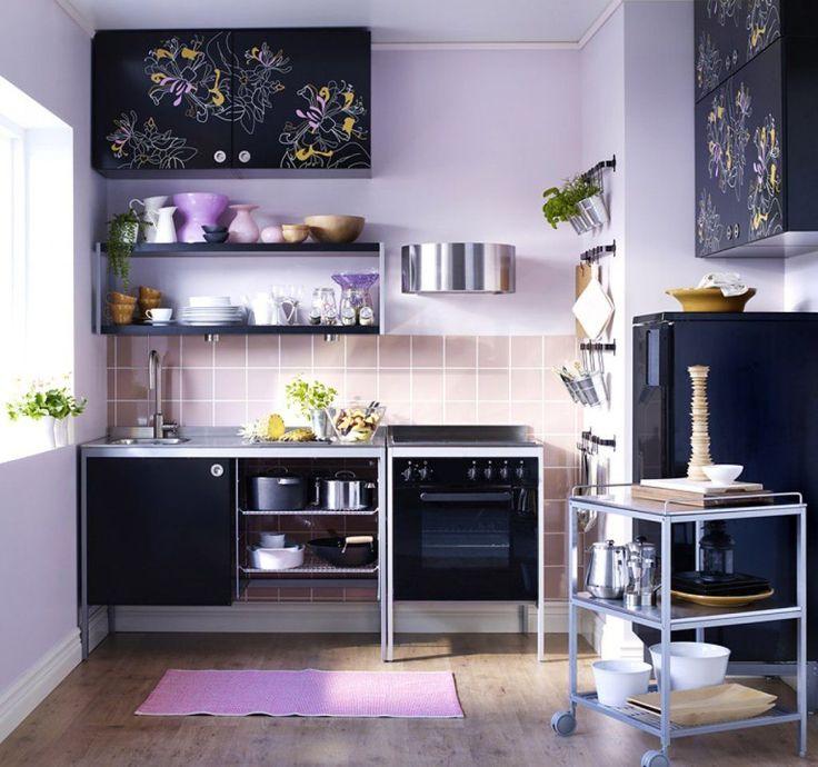 HappyModern.RU | Фиолетовая кухня (58 фото): смелое решение для сильных духом | http://happymodern.ru