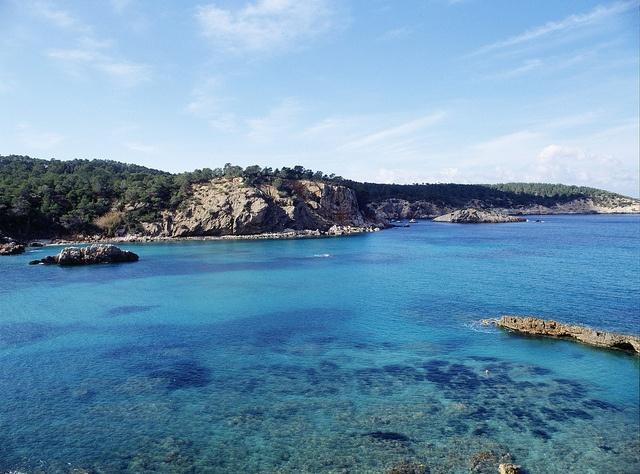 Vista de aguas de Xarraca. Ibiza