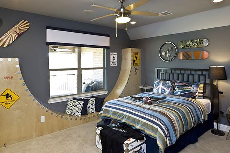 15 Terrific Rooms For Tweens Teenage Boy Room Boys Bedroom Decor Skateboard Bedroom Tween boys bedroom dream board