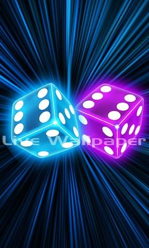 Purple Neon Dice Wallpaper Ver Maior Captura De Tela