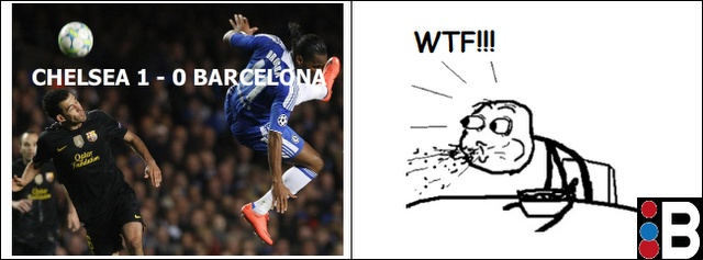 Rage Comic of the Day: Barcelona Looses to Chelsea [Meme]