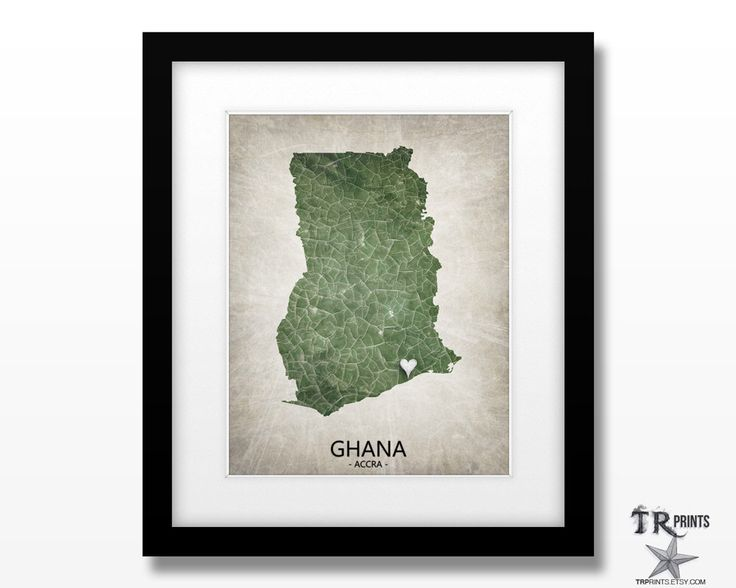 Ghana Africa Map Art Print - Home Is Where The Heart Is - Original Custom Map Art Print Available in Multiple Size and Color Options by TRPrints on Etsy https://www.etsy.com/uk/listing/261990596/ghana-africa-map-art-print-home-is-where