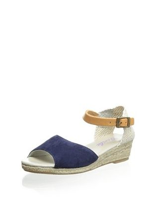 42% OFF Gorila Kid's Espadrille Wedge (Navy)