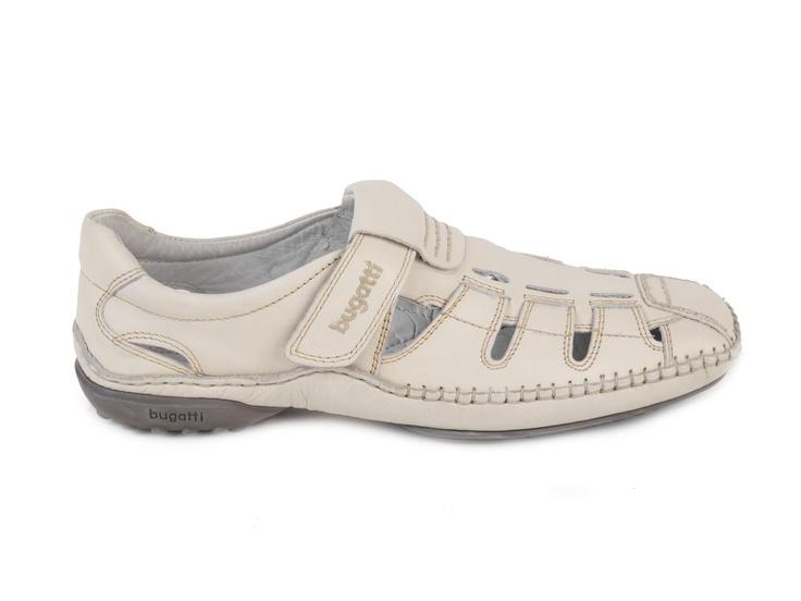 Bugatti Elegantní pánské uzavřené sandály G1863-1 / bílá