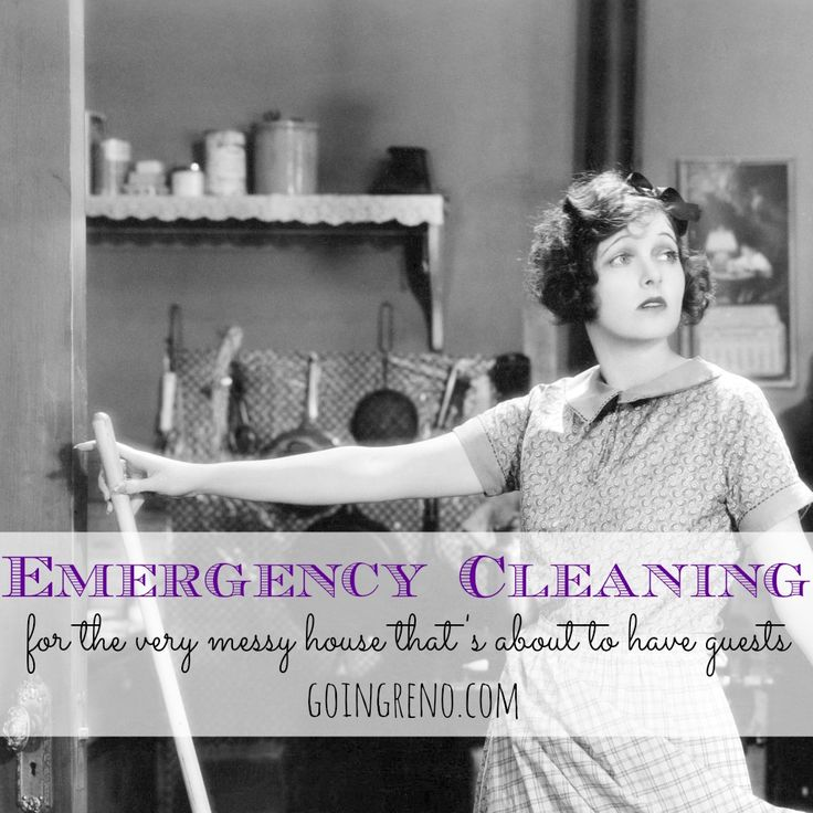 An emergency cleaning guide for the seriously messy, serially disorganized, soon-to-be hostess.