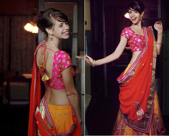 Loving the colors, and the dupatta draping style!