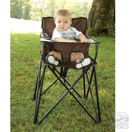 Hey, Baby's like to camp too! And now they can with the Baby Go-Anywhere Highchair!