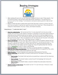CAFE Strategies Info for Parents