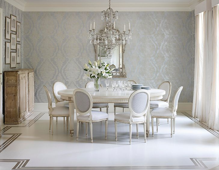 42 best house and home the dining room images on for Wallpaper traditional home