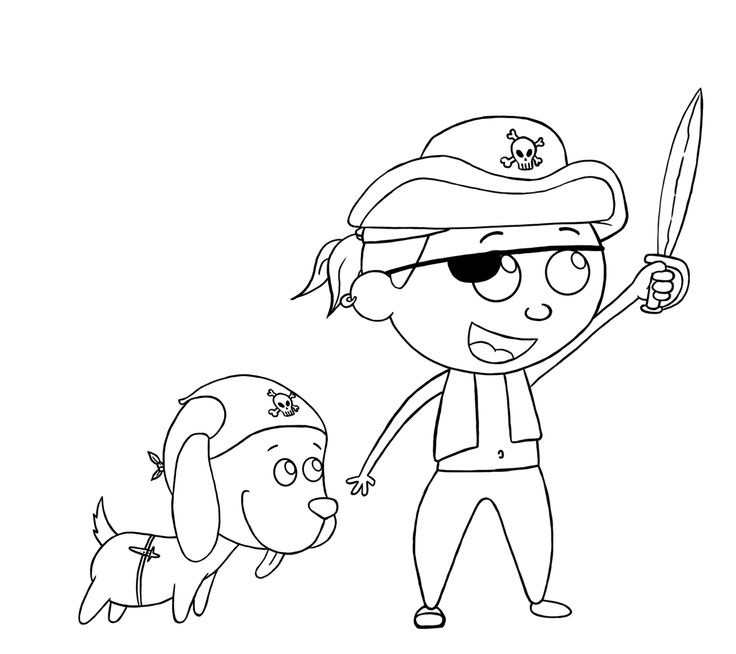 Pirate and Dog.