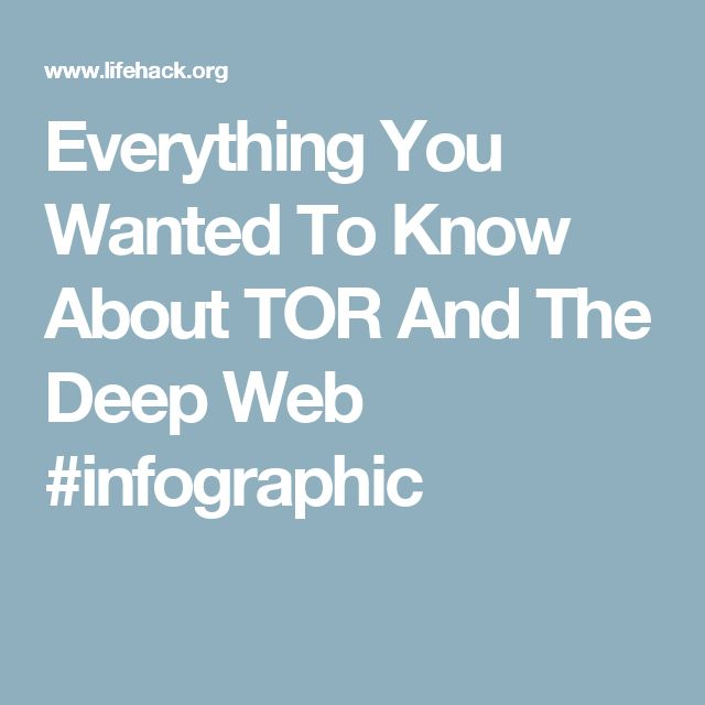 Everything You Wanted To Know About TOR And The Deep Web #infographic