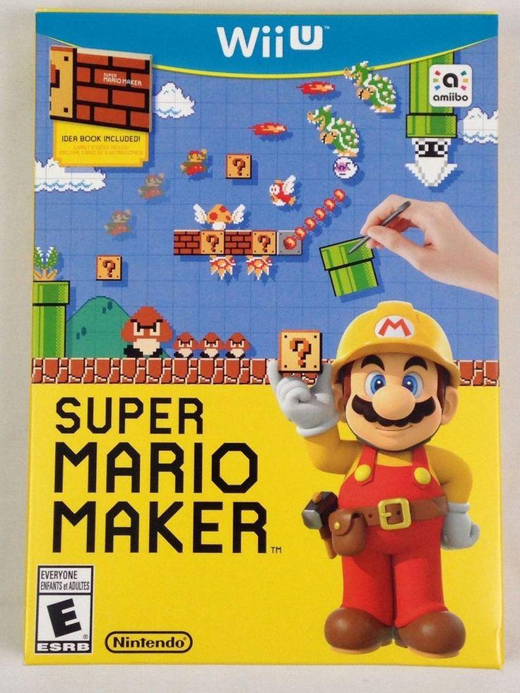 Nintendo Super Mario Maker Wii U Idea Book Complete Video Game Bundle 2015 Used #Nintendo #NintendoWiiU #WiiU #VideoGames #Ebay #EbaySeller #EbaySellers #EbayDeals #EbayStore #EbayLife #Reseller #ResellerLife #Thrift #Thrifting #ThriftingLife