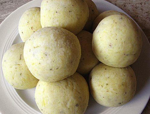 Traditional German potato dumplings from the local region Pfalz