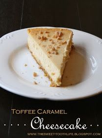 The Sweet {Tooth} Life: Toffee Caramel Cheesecake