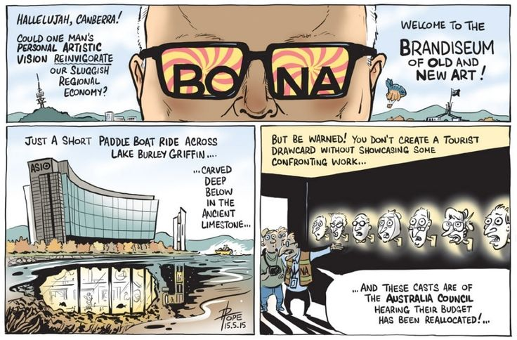 "GEORGE BRANDIS "" ART ""  A TRUE BULLSHIT ARTIST Cartoon by DAVID POPE."